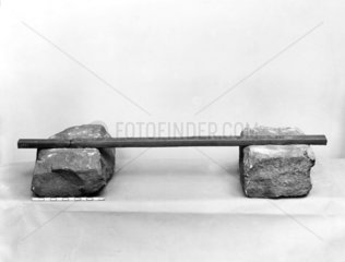 Wrought iron rail and stone sleepers  1808.