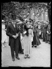 Guests at a wedding  London  1934.