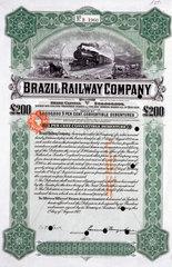 Brazil Railway Company share certificate  1 August 1912.