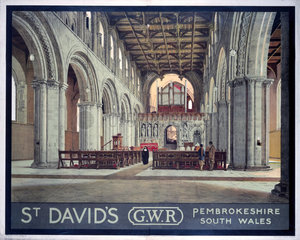 'St David's'  GWR poster  c 1930s.