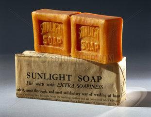 Bar of 'Sunlight' soap  c 1890-1914.