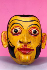 Painted face mask  Sinhalese from Sri Lanka.