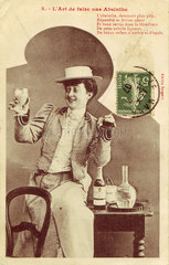 'L'Art de faire une absinthe'  c 1910.
