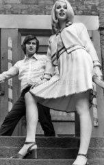 Hairdresser and model  April 1972.