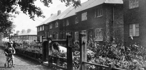 Wythenshawe Garden City  Manchester  March 1940.