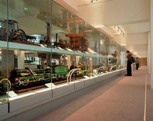 View of model walkway  Science Museum  London  July 2000.