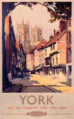 'York'  BR poster  1950s.
