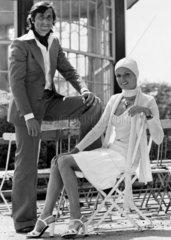 Ilie and Dominique Nastase  June 1974.