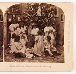 'Just out of bed - Christmas morning'  1897 .