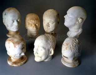 Phrenological plaster cast heads  1823-1950.