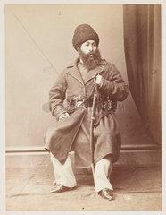 'His Highness Shere Ali Khan  Amir of Afghanistan'  c 1878.