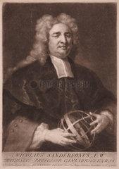 Nicholas Saunderson  English mathematician  1719.