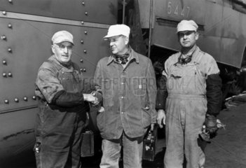 Ransome-Wallis with driver and fireman  USA  1941.