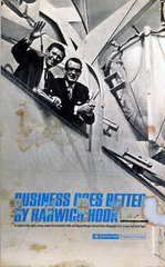 'Business goes better by Harwich Hook'  BR (ER) poster  c 1970s.