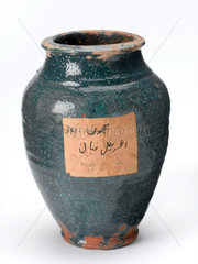 Storage jar for medical preparations  Middle- or Far Eastern  1801-1920.