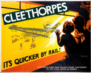 'Cleethorpes: It's Quicker by Rail'  LNER poster  1923-1947.