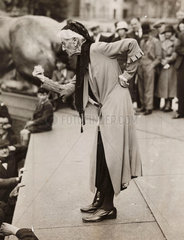 Charlotte Despard speaking at anti-fascist rally  London  c 1930s.