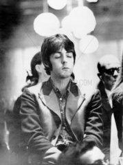 Paul McCartney meditating  25 August 1967.
