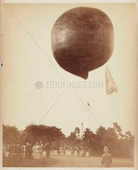 A balloon ascending  1885-1890.