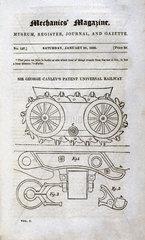 Sir George Cayley's Patent Universal Railway  1826.
