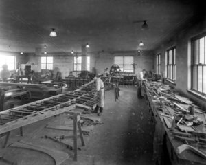 Workers in the patternmakers' shop  Langley Research Center  June 1922.