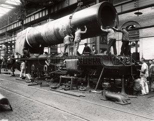 Construction of 'The Princess Royal' at Crewe Works  1933.