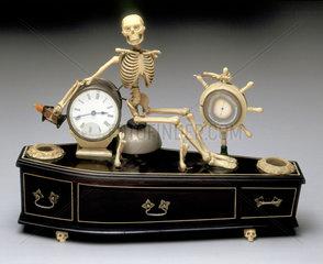 Alarm clock  probably English  1840-1900.