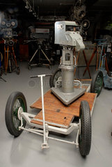 EMI Emitron television camera on a rolling dolly  1936.