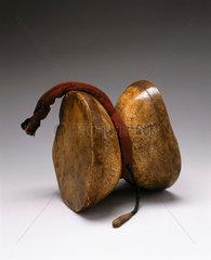 Damatu hand-drum  Tibet  18th or 19th century.