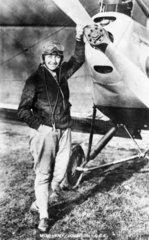 Amy Johnson  English aviator  c 1930s.