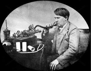 Thomas Alva Edison  American inventor  1889.