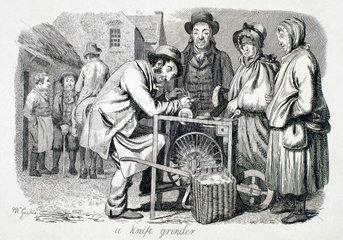 'A knife grinder'  1833.