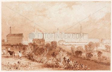 Swainson Birley Cotton Mill near Preston  Lancashire  1834.
