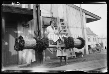 Swinging on a giant cracker  1932.