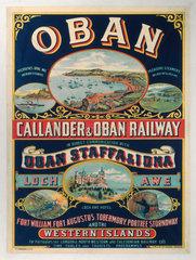 'Oban - Callander & Oban Railway'  LNER poster  1923-1947.
