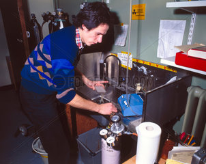 Haematology laboratory  1981.