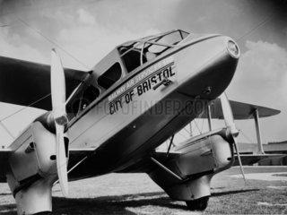 Railway Air Services aeroplane  c 1930s.