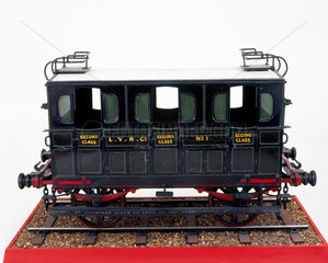 Second class railway carriage  1839. Model.