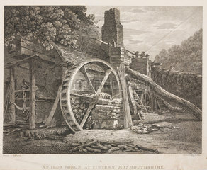'An iron forge at Tintern Monmouthshire'  Wales  19th century.