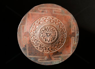 Yantra meditation plaque  India  1800s.