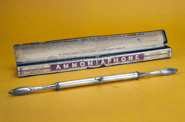 Ammoniaphone  'for voice cultivation by chemical means'  English  1871-1900.