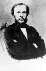 Dmitry Ivanovich Mendeleyev  Russian chemist  1860s.