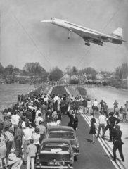 Concorde's maiden flight  Fairford.