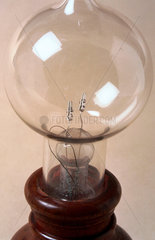 Early Edison carbon filament lamp  1897.