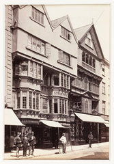 'Exeter  Old Houses in High Street'  c 1880.