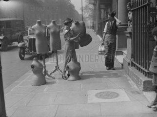 Dummies outside the Victoria & Albert Museum  London  1932.