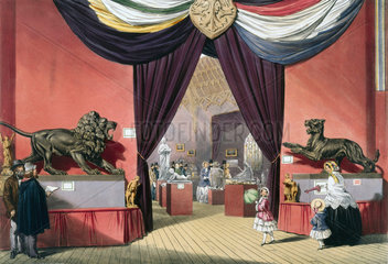 Octagonal room at the Great Exhibition  Crystal Palace  London  1851.