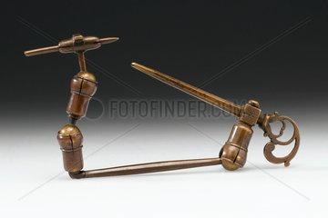 Musschenbroek hand microscope  Dutch  late 17th century.