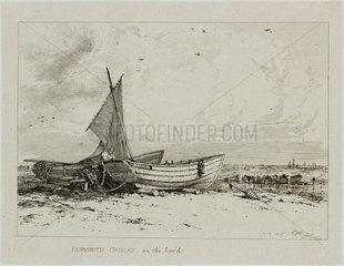 Yarmouth cobles on the beach  1828.