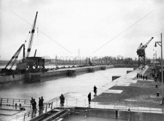 The new King George V Graving Dock  Southampton  18 January 1934.